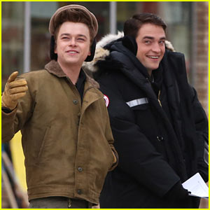 Robert Pattinson & Dane DeHaan Continue Filming 'Life' in Super Cold Canada!