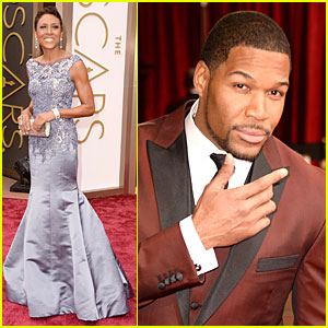 GMA's Robin Roberts & Michael Strahan - Oscars 2014 Red Carpet