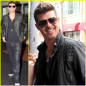 Robin Thicke Parties with Leonardo DiCaprio for 37th Birthday Bash!