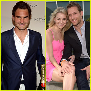 Roger Federer Hosts 'Bachelor' Juan Pablo at Moet & Chandon's Tennis Event