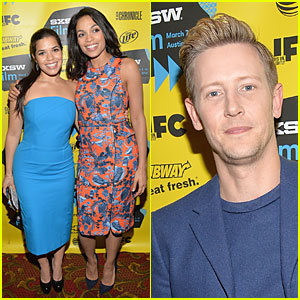 Rosario Dawson & America Ferrera Are Feeling Blue at 'Cesar Chavez' SXSW Premiere!
