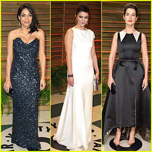 Rosario Dawson & Mary Elizabeth Winstead - Vanity Fair Oscars Party 2014