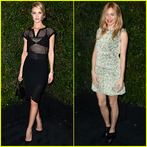 Rosie Huntington-Whiteley & Sienna Miller: Chanel & Charles Finch Pre-Oscars Dinner