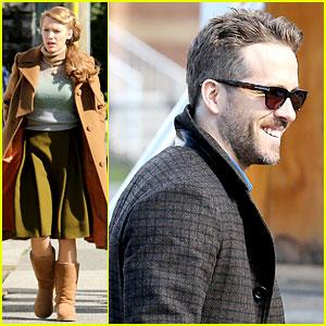 Ryan Reynolds Visits Wife Blake Lively on 'Age of Adaline' Set!