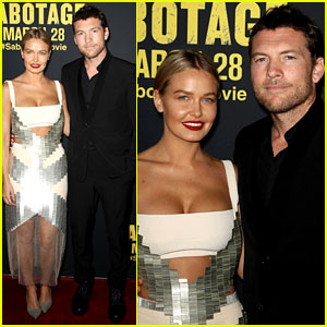 Sam Worthington Has the Hottest Date at the 'Sabotage' Premiere