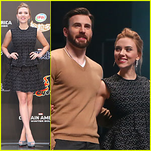 Scarlett Johansson & Chris Evans Bring 'Captain America' To Largest Populated Country!