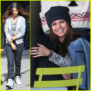 Selena Gomez Films Adidas Ad in NYC After Weekend in Texas