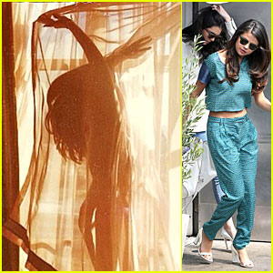 Selena Gomez Appears to Be Naked Under a Curtain - See the Sexy Pic!