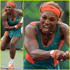 Serena Williams' Insanely Jacked Physique Helps Her Advance at Sony Open!