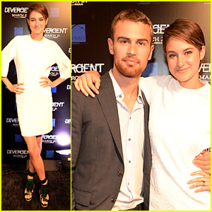 Shailene Woodley & Theo James Are Engrossed with 'Divergent'!