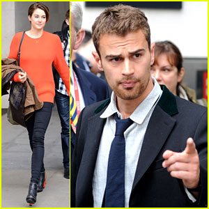 Shailene Woodley & Theo James Continue 'Divergent' Press Tour in London