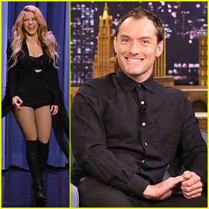 Shakira & Jude Law Are Matching Guests on 'Tonight Show'!