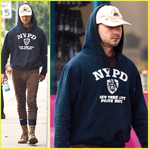 Shia LaBeouf Hides His Fit Physique Under Too Many Layers for Our Taste!