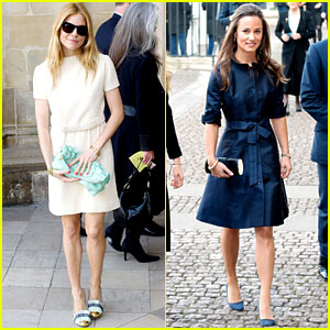 Sienna Miller & Pippa Middleton Attend Memorial Service for Sir David Frost
