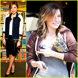 Sophia Bush Supports Pal Adam Braun at His Book Signing!