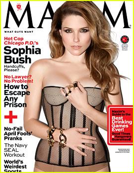 Sophia Bush is Super Sexy in Hot Lingerie for 'Maxim' April 2014