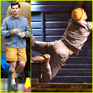 Taylor Lautner Does Stunts for 'Cuckoo' & We're Scared for Him!