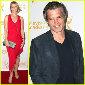 Timothy Olyphant Steps Out for An Evening with the Cast of 'Justified'!