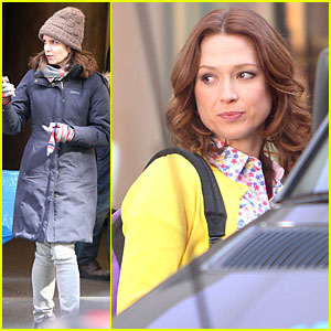 Tina Fey Battles the Freezin' Weather To Oversee 'Tooken'!