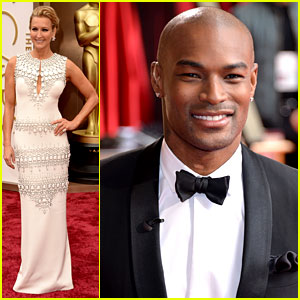 Tyson Beckford & Lara Spencer - Oscars 2014 Red Carpet