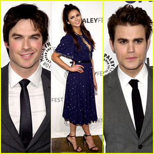 Ian Somerhalder, Nina Dobrev, & Paul Wesley: Perfect Blood-Sucking Trio at 'Vampire Diaries' PaleyFest Panel!