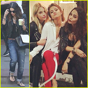 Vanessa Hudgens & Selena Gomez Make Kissy Faces During 'Spring Breakers' Reunion!