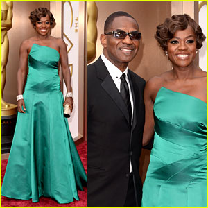 Viola Davis - Oscars 2014 Red Carpet with Julius Tennon