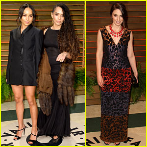 Zoe Kravitz & Sara Bareilles - Vanity Fair Oscars Party 2014