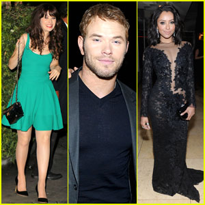 Zooey Deschanel & Kellan Lutz: Pre-Oscars Party at Sunset Tower with Kat Graham