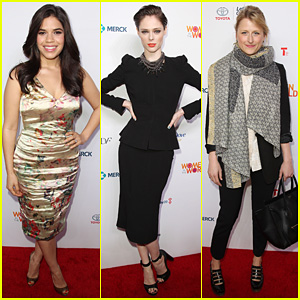 America Ferrera & Coco Rocha Hit the Red Carpet for Women In The World Summit 2014!