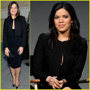 America Ferrera & Husband Ryan Piers Williams Talk Working Together at 'Meet The Actors' Session in NYC!