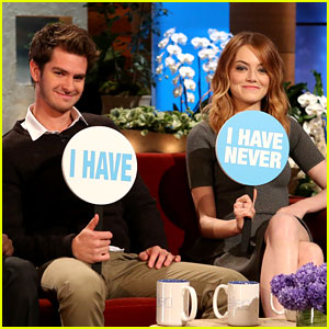 Andrew Garfield & Emma Stone Reveal Intimate Details While Playing 'Never Have I Ever'! (Video)