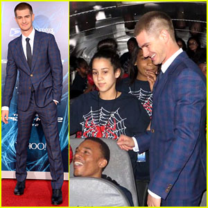 Andrew Garfield Rides Bus with Underprivileged Kids to 'Amazing Spider-Man 2' Premiere!