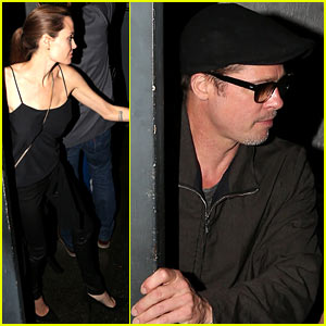 Angelina Jolie & Brad Pitt Enjoy a Date Night at the Troubador!