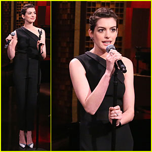 Anne Hathaway Sings Hip-Hop on 'Tonight Show' - Watch Now!