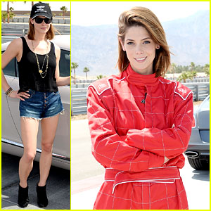 Ashley Greene Kicks Off Coachella Weekend with Race Cars!