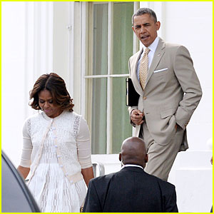President & Michelle Obama Wore Their Sunday Best on Easter!