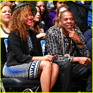 Beyonce & Jay Z Cannot Stop Smiling as the Brooklyn Nets Make the NBA Playoffs!