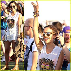 Camilla Belle Rocks Out to the Music at Coachella 2014!