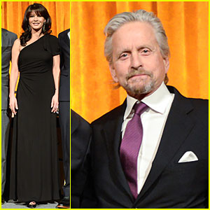 Catherine Zeta-Jones & Michael Douglas Get Honored at Windward School! (Exclusive)