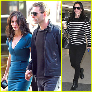 Courteney Cox & Johnny McDaid Hold Hands at 'Letterman'!