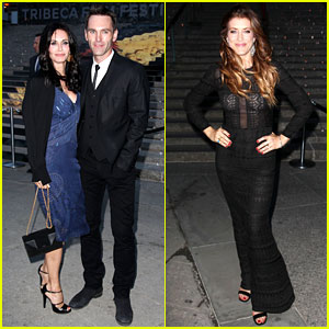 Courteney Cox & Kate Walsh Party with 'Vanity Fair' at Tribeca!