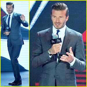 David Beckham Can Woo Us Easily Without Driving a Jaguar F-Type Coupe!