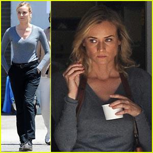 Diane Kruger Gets Prepped & Pampered on 'The Bridge' Set!