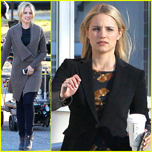 Dianna Agron's First Day on 'Tumbledown' Set Has Her in Two Cute Outfits!