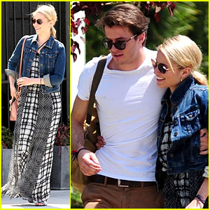 Dianna Agron Gets Cozy with Thomas Cocquerel at Lunch!