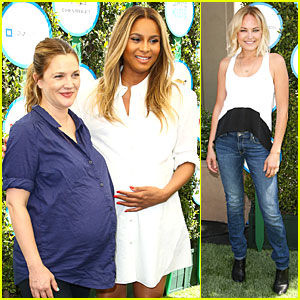 Drew Barrymore & Ciara Are Pregnant & Glowing on Safe Kids Day!