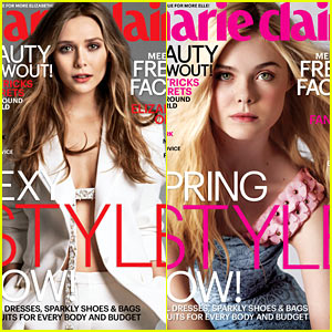 Elizabeth Olsen & Elle Fanning are Shining Stars for Marie Claire May 2014 Covers