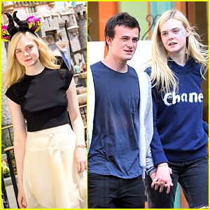 Elle Fanning & Her Boyfriend Dylan Beck Hold Hands at Disneyland!