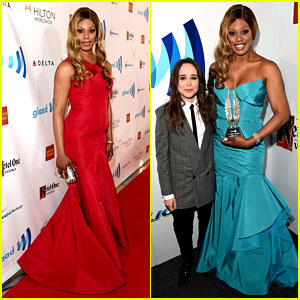 Ellen Page Presents to Laverne Cox at GLAAD Media Awards!